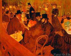 Henri de Toulouse-Lautrec - Im Moulin Rouge