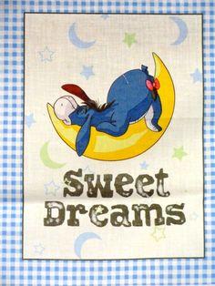 New Disney Winnie the Pooh Tigger Piglet Eeyore Nursery Soft Book Fabric Panel