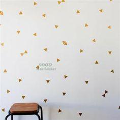 Triangle D'Or Sticker Adhésifs Muraux, Amovible Art Décoration Pour Maison Stickers Muraux     1 lote = 44 points Point taille: 6.5 cm * 6.5 cm    Matériel: PVC favorable à l'environnement  Fini taille: comme l'image montre  Emball