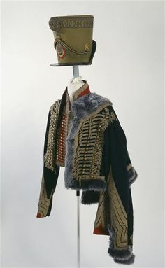 This uniform was worn by the famous Baron de Marbot ( he was the commander of the French 7th Hussars ) during the Waterloo campaign.