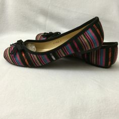 Your everyday flats. Very colorful flats that are very easy to match. Textile upper. Come in a box. Shoes Flats & Loafers