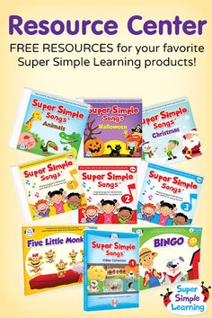 Free Super Simple Songs – Animals resources for kids from Super Simple Learning. #EFL #preschool