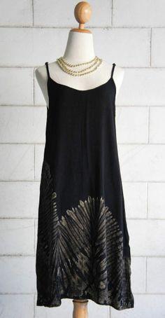 TIE DYE SPAGHETTI SHORT DRESS 078 hippie boho gypsy sundress batik blouse top