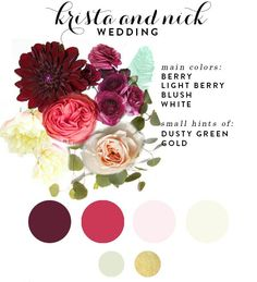 Love these colors.   Late Summer Wedding Flowers   House of Earnest