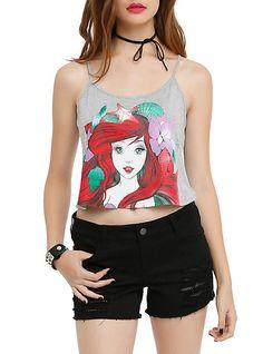 Disney The Little Mermaid Ariel Sketch Girls Crop Tank Top | Hot Topic