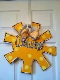 mason jar door hanger | Large Sun Wooden Door Hanger Summer Door Decor