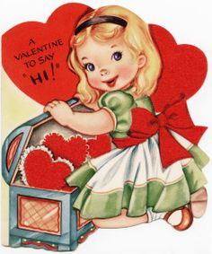 vintage valentine, free valentine graphic, old fashioned greeting card, child valentine printable