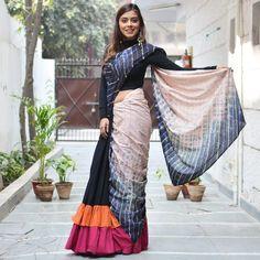 Ruffle sarees