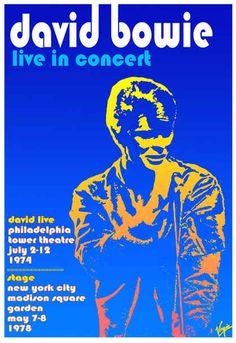 David Bowie  Tower Theatre, Philadelphia  July 1974