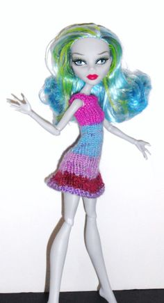 Monster High Knit Dress and Hat by SSmartRaggs on Etsy, $28.00