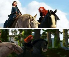 I'm so glad that Merida and Elinor were able to finally find a pastime they could both share and enjoy together - horse back riding. :)