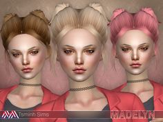 Madelyn Hair 17 by TsminhSims at TSR via Sims 4 Updates  Check more at http://sims4updates.net/hairstyles/madelyn-hair-17-by-tsminhsims-at-tsr/