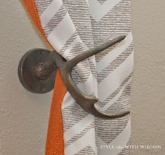 Woodland Nursery antler curtain tie backs