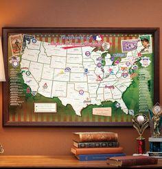 Baseball Park Map Would Be Fun To See Games In Several Baseball - Us baseball map