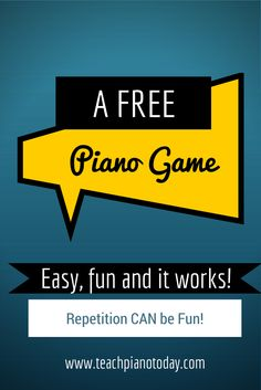 that is also the same with piano playing. The piano is a very special musical instrument and almost every individual desire to play it. But before you can play the pian Piano Games, Piano Music, Music Games, Music Music, Piano Lessons, Music Lessons, Art Lessons, Piano Classes, Piano Teaching