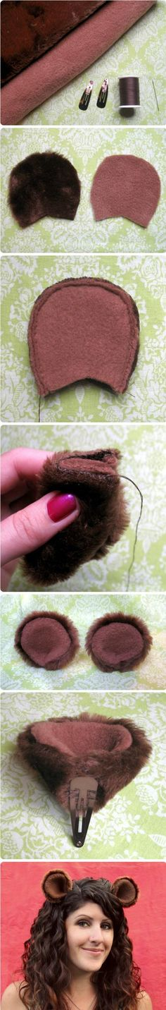 Cosplay animal ear hair clips. < I LOVE these!