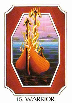 15. Warrior (Teiwaz) - Rune Cards by Ralph Blum Illustrated by Jane Walmsley