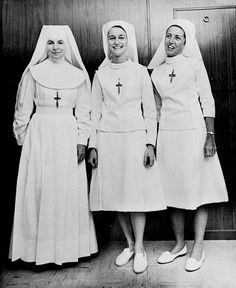 Sisters of St. Joseph original and modified nursing habit 1967