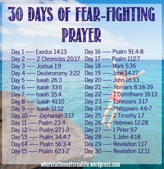 30 days of fear-fighting prayer