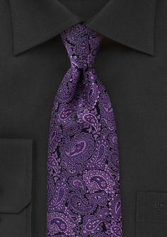 Paisley Designer Tie in Lilac and Purple