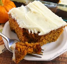 PUMPKIN Cake with cr