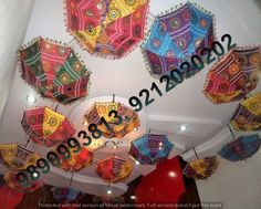 Rajasthani Handmade Umbrellas - Manufacturers, Suppliers, Exporters, Contractors. Find Here Specialized Umbrellas Decoration for Marriage, Parties, Events, Wedding & Outdoor Ceiling Manufacturers, Service Providers, Contractors, Suppliers, Delhi, India