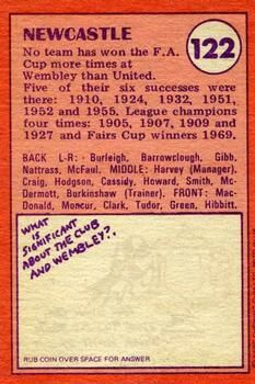 1974-75 A&BC Gum #122 Newcastle United Team Back