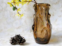 Shop for on Etsy, the place to express your creativity through the buying and selling of handmade and vintage goods. Vintage Home Decor, Blown Glass, Glass Vase, Unique Jewelry, Handmade Gifts, Etsy, Art, Kid Craft Gifts, Art Background