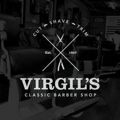 Create a Trendy Vintage Style Barber Logo in Illustrator // via blogspoongraphics