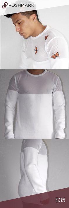 Mens sweater Top mesh, bottom fleece men's sweater La Farria Sweaters