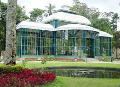 Crystal Palace - Petropolis City, RJ - Brazil The Crystal Palace was built in France in the same period of the construction of the Eiffel Tower, was a gift from Count D'Eu to his wife, Princess Isabel daughter of Emperor Dom Pedro II, oppened in 1884.