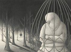 Black Anthropomorphic Illustrations David Alvarez