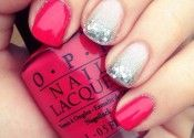 red and nude sparkle
