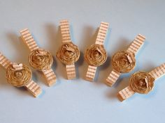 SOLD - Shabby Chic Decorative Clothes Pins Banner Office by StuffDepot
