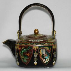 Japanese Inaba cloisonne (cloisonné) teapot - $340. Click here for more details and to purchase.