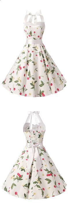vintage dress,fashion vintage style dress,halter dress,floral print dress,retro dress,