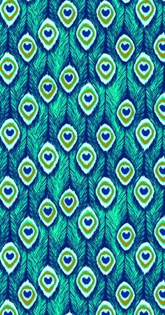 Kacey says: This peacock print is to die for! Pretty Patterns, Beautiful Patterns, Cool Wallpaper, Pattern Wallpaper, Peacock Wallpaper, Cellphone Wallpaper, Iphone Wallpaper, Textures Patterns, Fabric Patterns