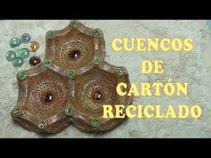 DIY CESTA CUENCO DE CARTÓN RECICLADO-RECYCLED CARDBOARD BOWL CART-