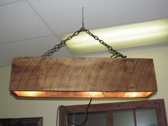 light fixture at chance wood company in durand mi