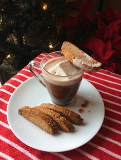 Gingerbread biscotti and Purdy's hot chocolate! Biscotti recipe up on the blog! Biscotti Recipe, Bake Sale, Christmas Baking, Hot Chocolate, Gingerbread, French Toast, Treats, Cookies, Breakfast