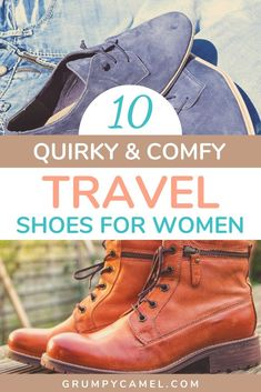 Looking for comfy walking shoes that aren't dull or goofy? Check out these quirky and super comfy travel shoes for women, including colourful boots and flat shoes. Hiking Gear, Hiking Shoes, Travel Shoes Women, Packing Tips For Vacation, Packing Lists, Travel Must Haves, Comfy Walking Shoes, Travel Bags, Travel Gifts