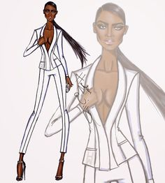 Hayden Williams Fashion Illustrations: 'In Command' by Hayden Williams