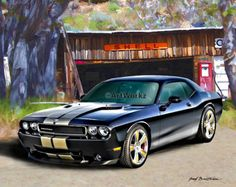 Muscle Car 1970 Dodge Challenger 426 Hemi Classic by ArtWorkz