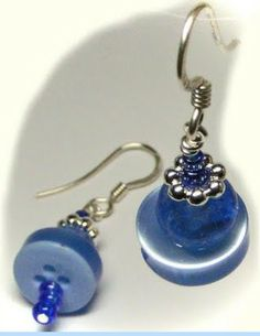 Matching stacked button earrings.
