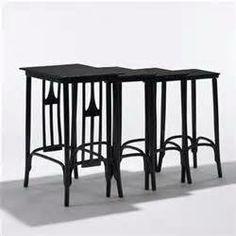 Gustav Siegel nesting tables, set of four J.
