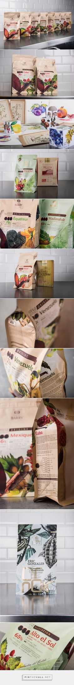 Cacao Barry packaging designed by DesignBridge ​ - http://www.packagingoftheworld.com/2015/09/cacao-barry.html