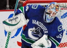 March 28, 2012: Cory Schneider has a clear view of the puck, it seems.