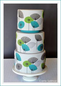 modern flower cakes - Google Search