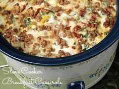 Delicious Slow Cooker Breakfast Casserole - sleep in and have this waiting for you when you wake up!
