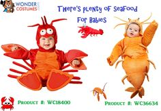 #seafood #costumes for #babies Baby Animal Costumes, Monkey Costumes, Bear Costume, Baby Costumes, Halloween Costumes, Shrimp Costume, Baby Shrimp, Halloween 2016, Little Pumpkin